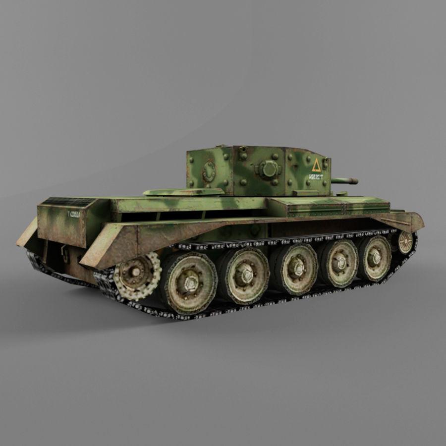 Średni czołg Cromwell royalty-free 3d model - Preview no. 5