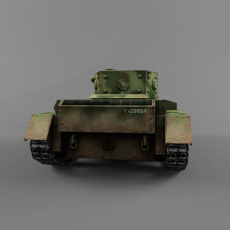 Średni czołg Cromwell royalty-free 3d model - Preview no. 4