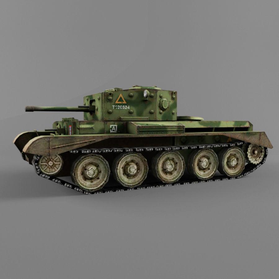 Średni czołg Cromwell royalty-free 3d model - Preview no. 2