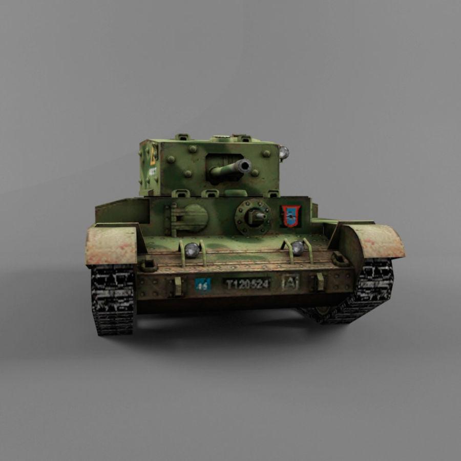 Średni czołg Cromwell royalty-free 3d model - Preview no. 9