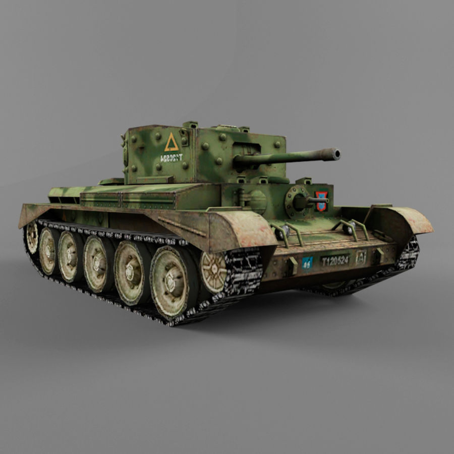 Średni czołg Cromwell royalty-free 3d model - Preview no. 8