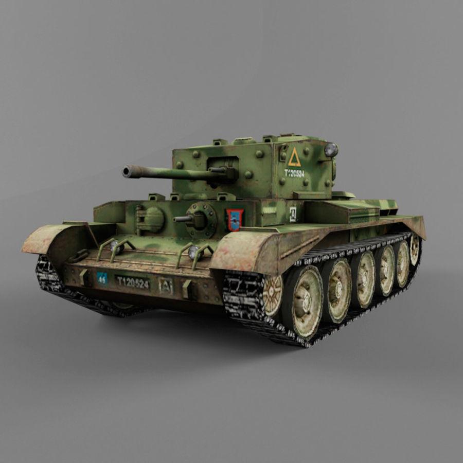 Średni czołg Cromwell royalty-free 3d model - Preview no. 1