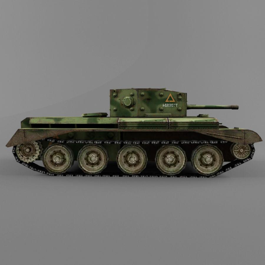 Średni czołg Cromwell royalty-free 3d model - Preview no. 7