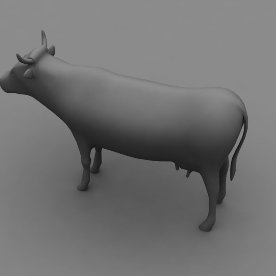 Cow royalty-free 3d model - Preview no. 10
