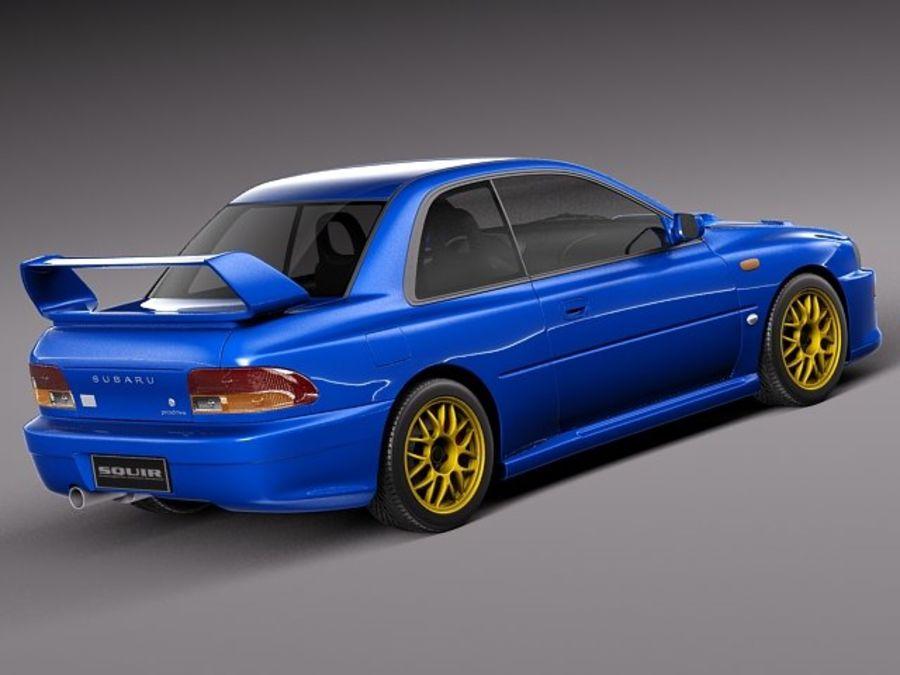 Subaru Impreza Sti 22b 1993 2000 3d Model 129 Obj Max Lwo Fbx C4d 3ds Free3d