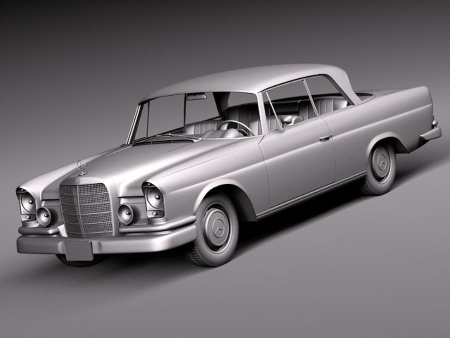 Mercedes-Benz 300SE W112 Купе royalty-free 3d model - Preview no. 11