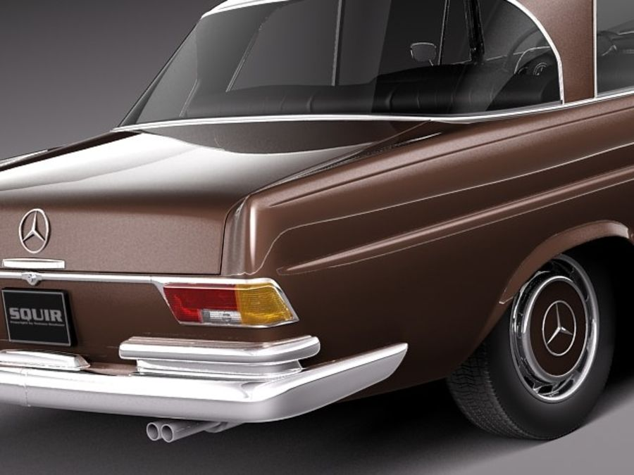 Mercedes-Benz 300SE W112 Купе royalty-free 3d model - Preview no. 4
