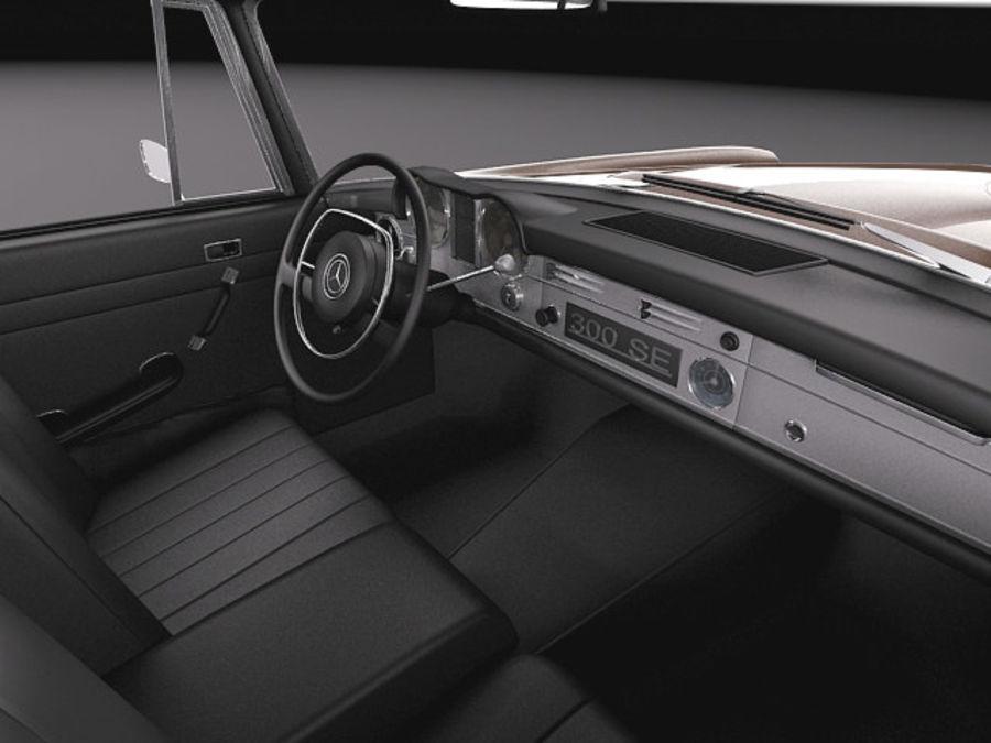 Mercedes-Benz 300SE W112 Купе royalty-free 3d model - Preview no. 9