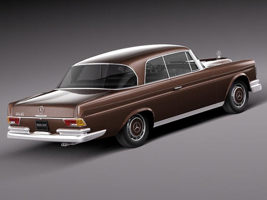 Mercedes-Benz 300SE W112 Купе royalty-free 3d model - Preview no. 5