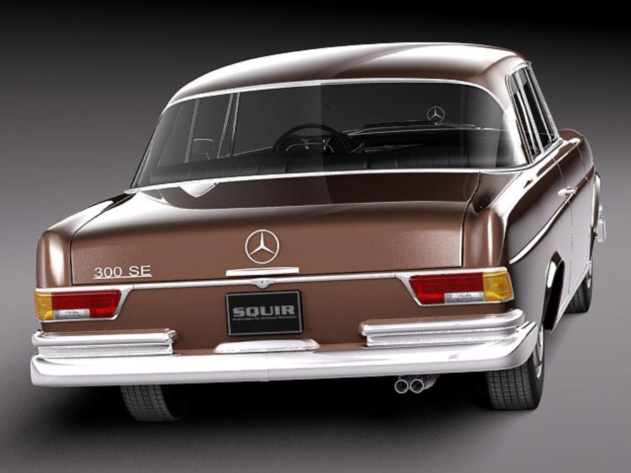 Mercedes-Benz 300SE W112 Купе royalty-free 3d model - Preview no. 6
