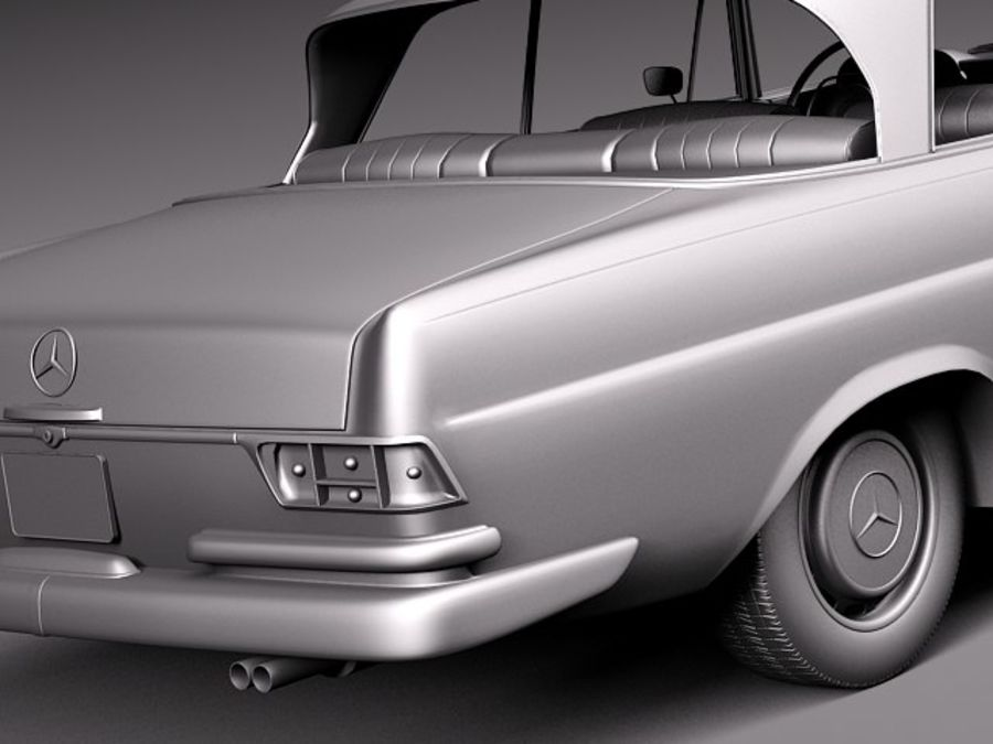 Mercedes-Benz 300SE W112 Купе royalty-free 3d model - Preview no. 13