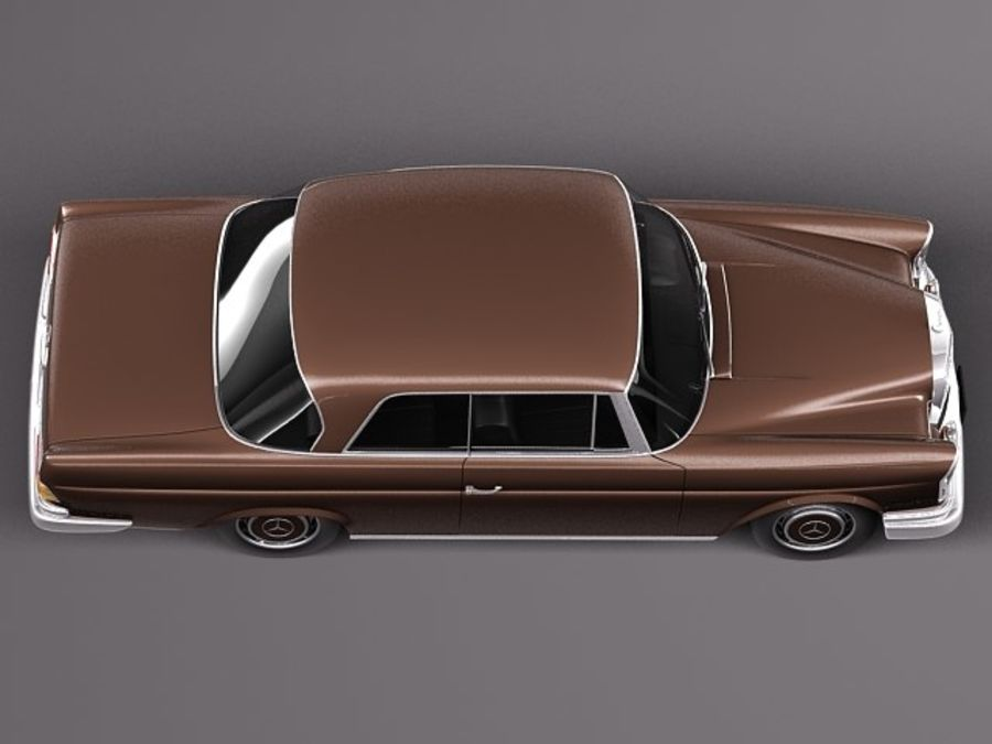 Mercedes-Benz 300SE W112 Купе royalty-free 3d model - Preview no. 8
