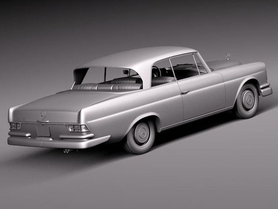Mercedes-Benz 300SE W112 Купе royalty-free 3d model - Preview no. 14