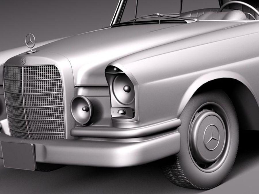 Mercedes-Benz 300SE W112 Купе royalty-free 3d model - Preview no. 12
