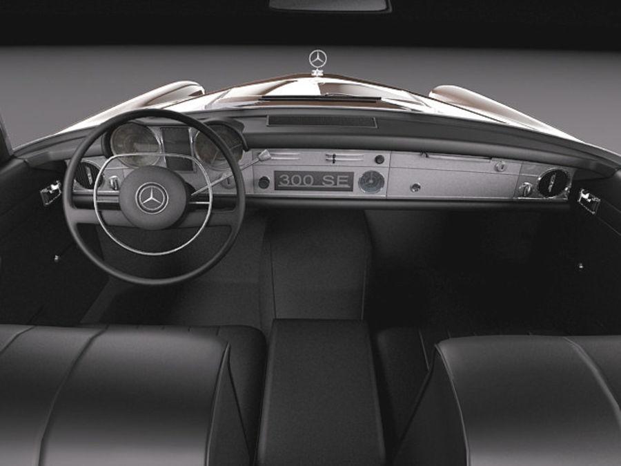 Mercedes-Benz 300SE W112 Купе royalty-free 3d model - Preview no. 10