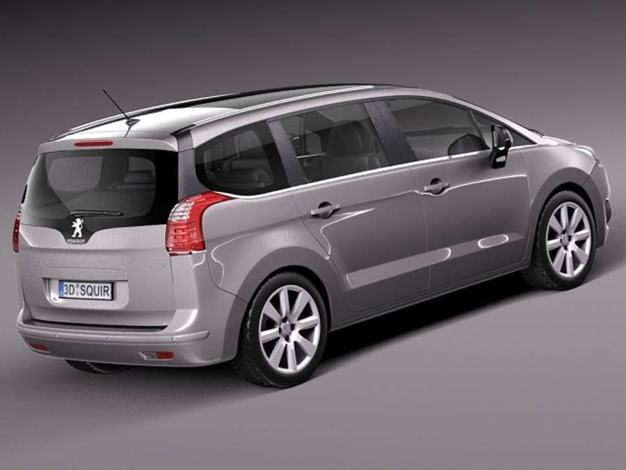 Peugeot 5008 2014 royalty-free 3d model - Preview no. 5