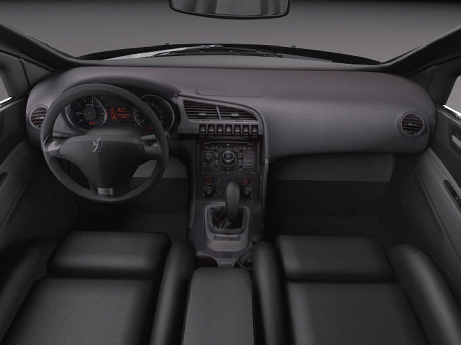 Peugeot 5008 2014 royalty-free 3d model - Preview no. 10