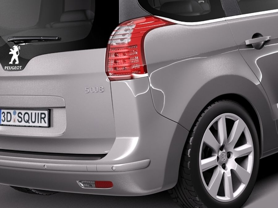 Peugeot 5008 2014 royalty-free 3d model - Preview no. 4
