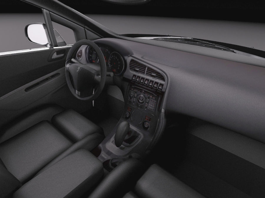 Peugeot 5008 2014 royalty-free 3d model - Preview no. 9