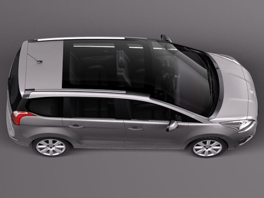 Peugeot 5008 2014 royalty-free 3d model - Preview no. 8