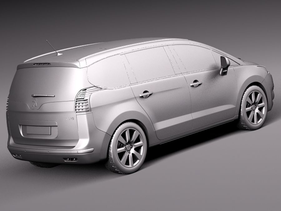 Peugeot 5008 2014 royalty-free 3d model - Preview no. 14