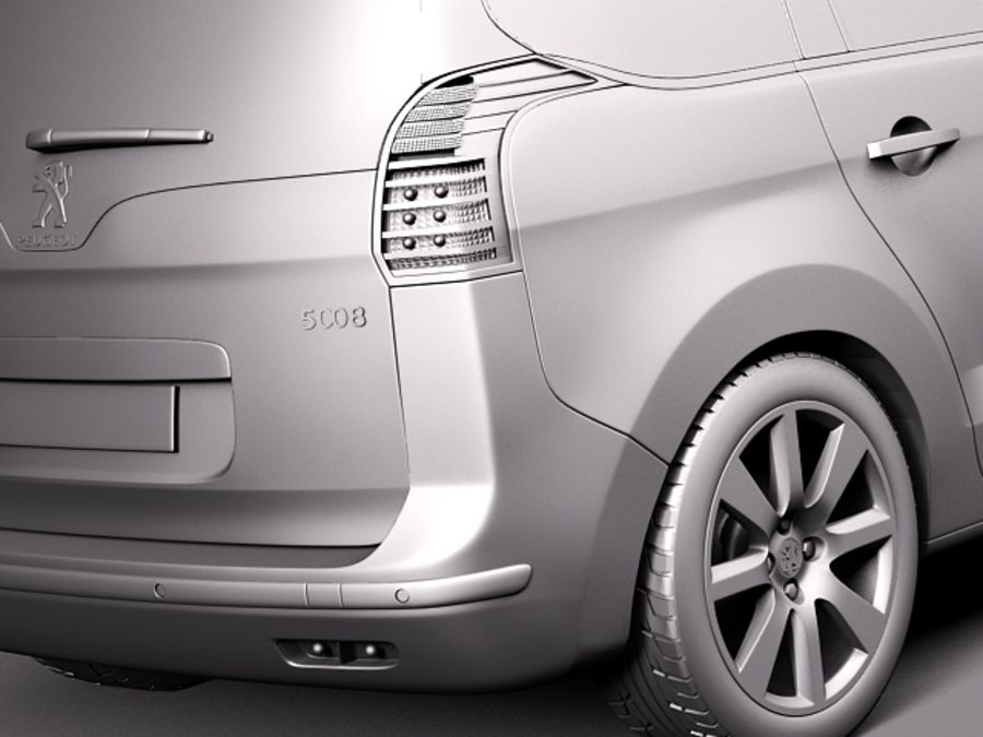 Peugeot 5008 2014 royalty-free 3d model - Preview no. 13