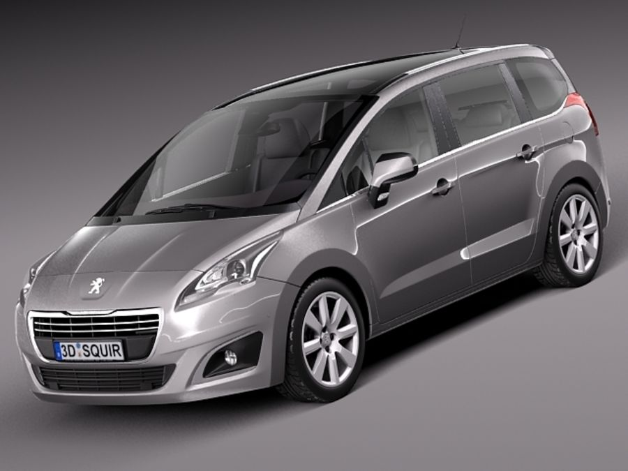 Peugeot 5008 2014 royalty-free 3d model - Preview no. 1