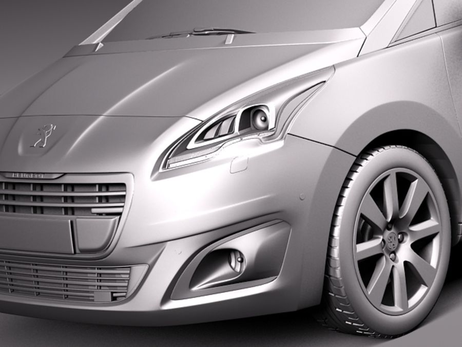 Peugeot 5008 2014 royalty-free 3d model - Preview no. 12