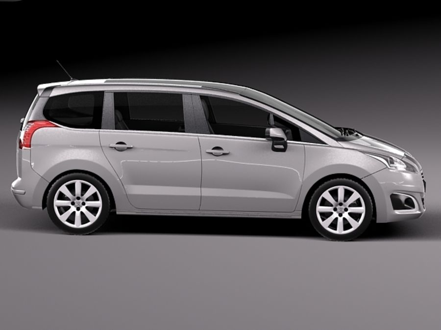 Peugeot 5008 2014 royalty-free 3d model - Preview no. 7