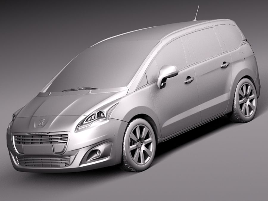 Peugeot 5008 2014 royalty-free 3d model - Preview no. 11