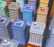 20 buildings textured 3d model