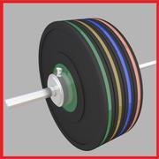 Barbell de levantamento de peso 3d model