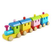 Trem de madeira 3d model