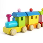 목조 기차 3d model