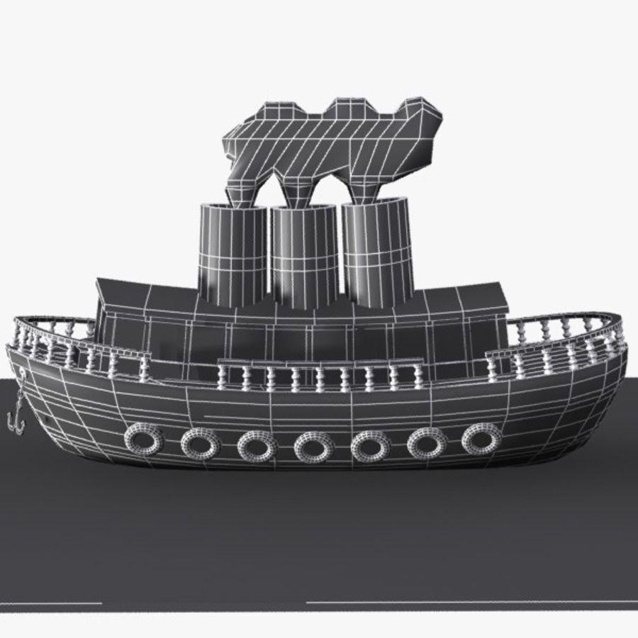 Karikatür gemi royalty-free 3d model - Preview no. 10