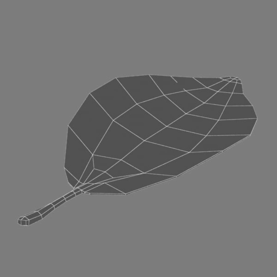 葉 royalty-free 3d model - Preview no. 5