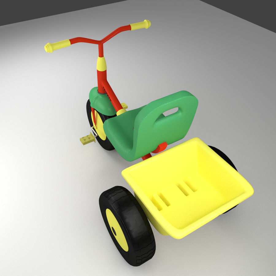 Tricycle royalty-free 3d model - Preview no. 4