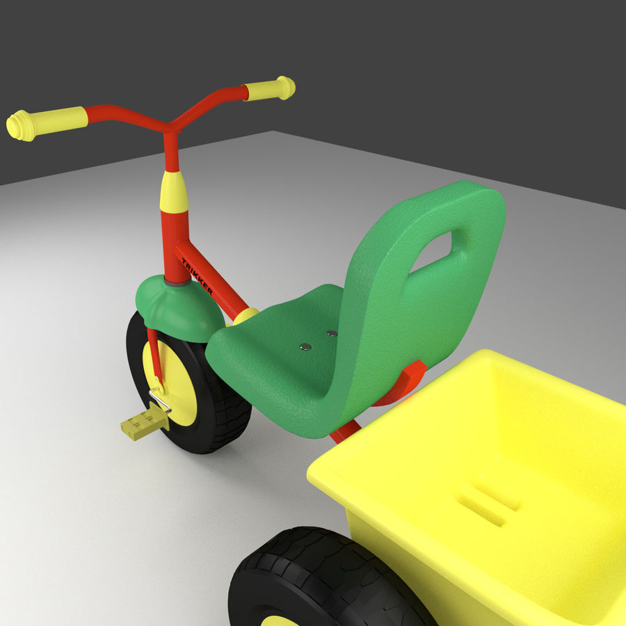 Tricycle royalty-free 3d model - Preview no. 5