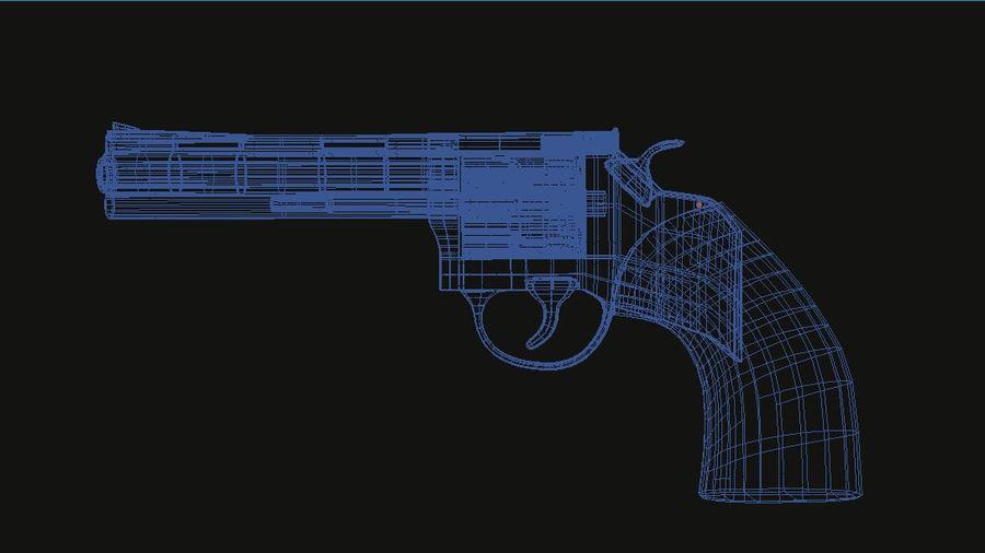 Револьвер royalty-free 3d model - Preview no. 5