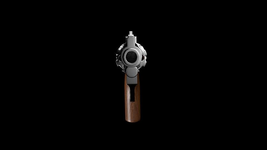 リボルバー royalty-free 3d model - Preview no. 3