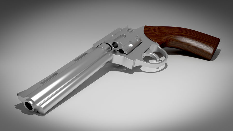 Револьвер royalty-free 3d model - Preview no. 1