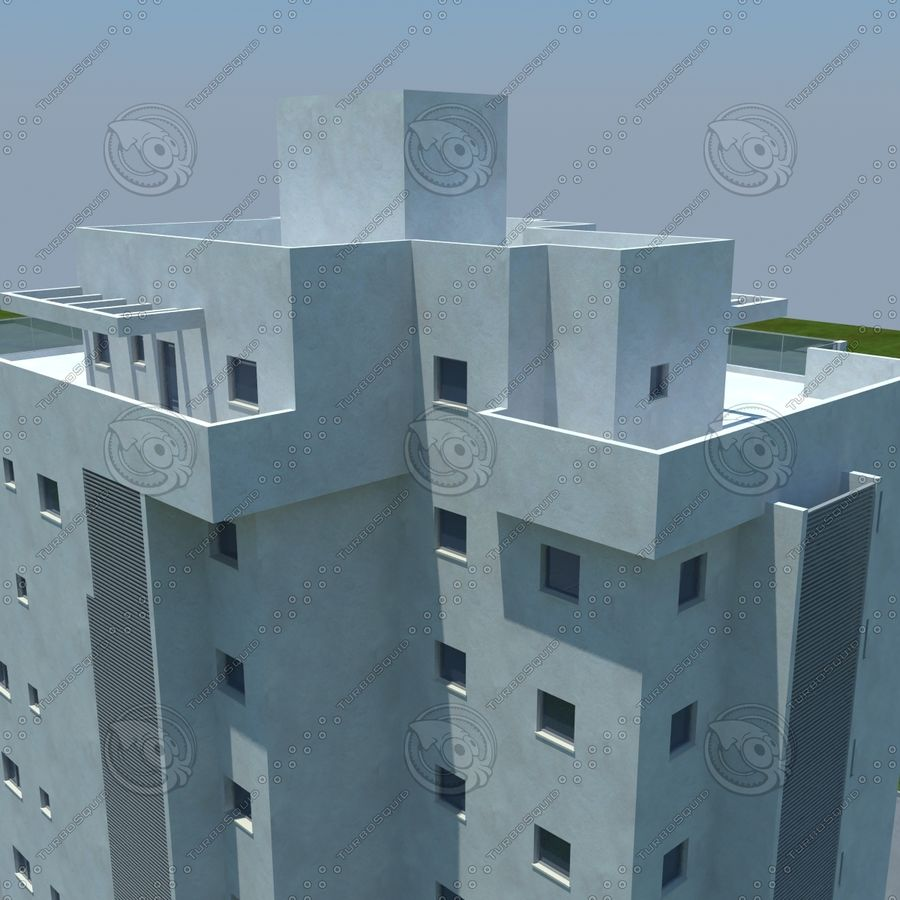 Gebäude royalty-free 3d model - Preview no. 14