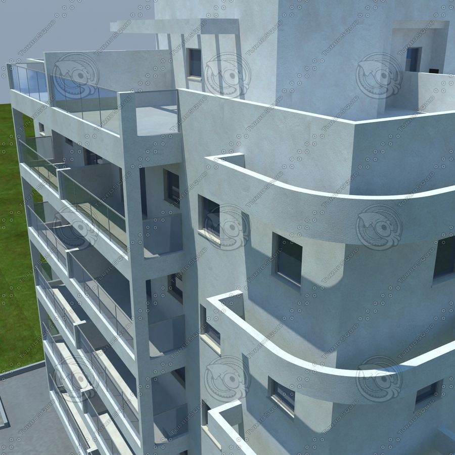 Gebäude royalty-free 3d model - Preview no. 4