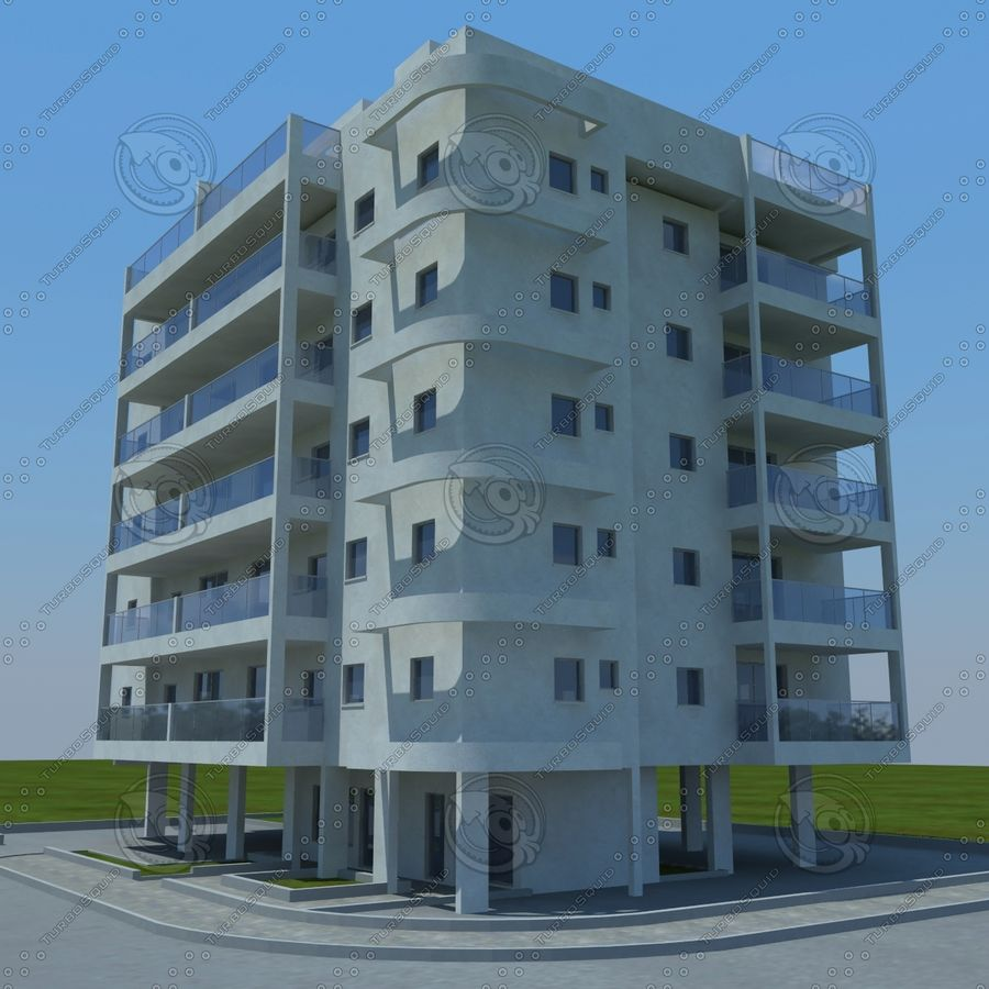 Gebäude royalty-free 3d model - Preview no. 2
