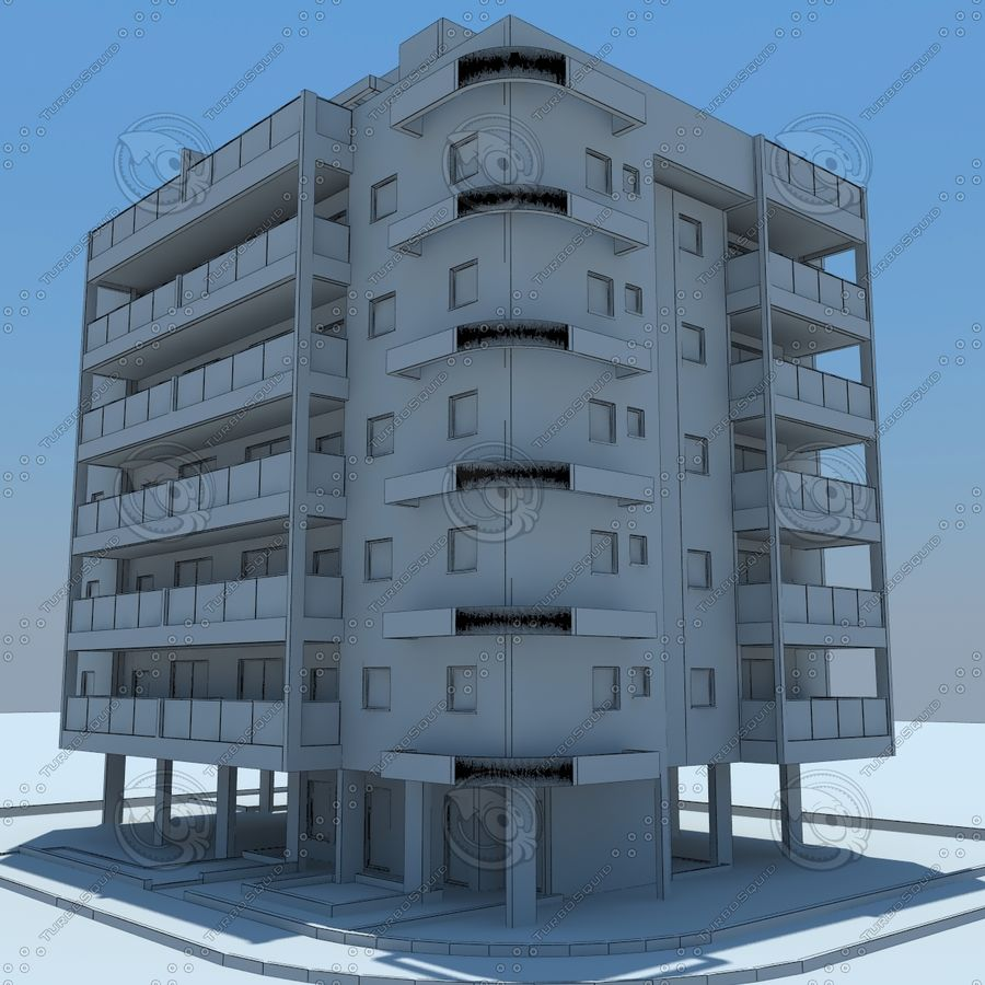 Gebäude royalty-free 3d model - Preview no. 20
