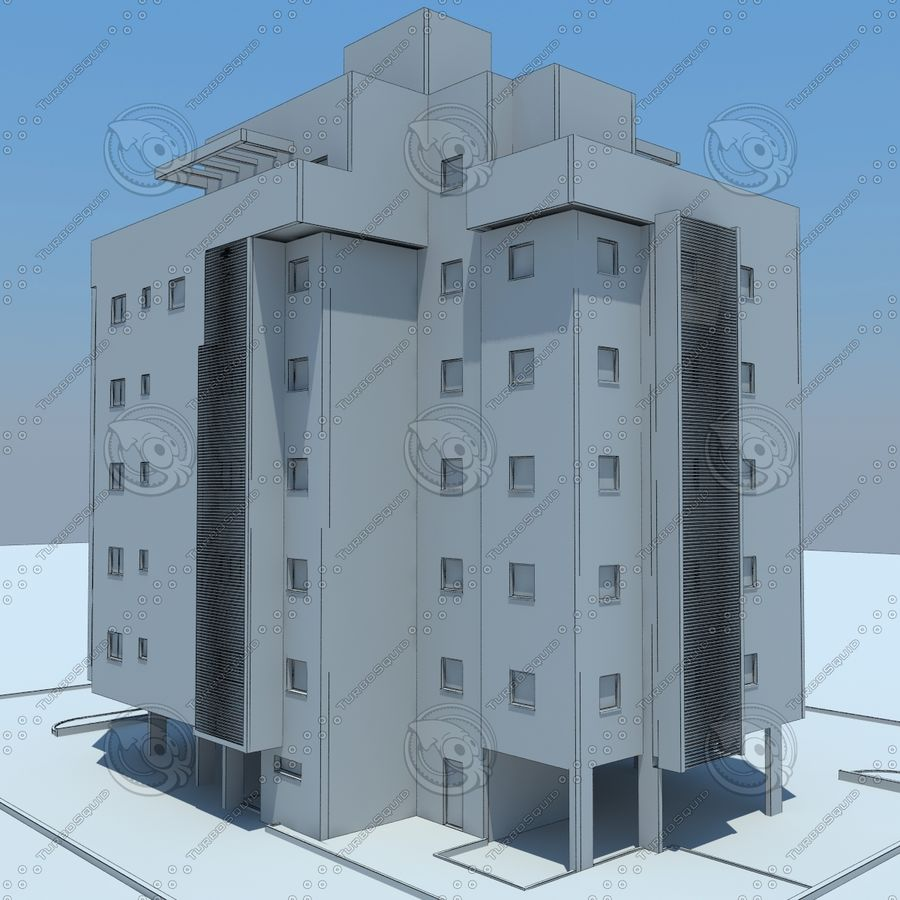 Gebäude royalty-free 3d model - Preview no. 22