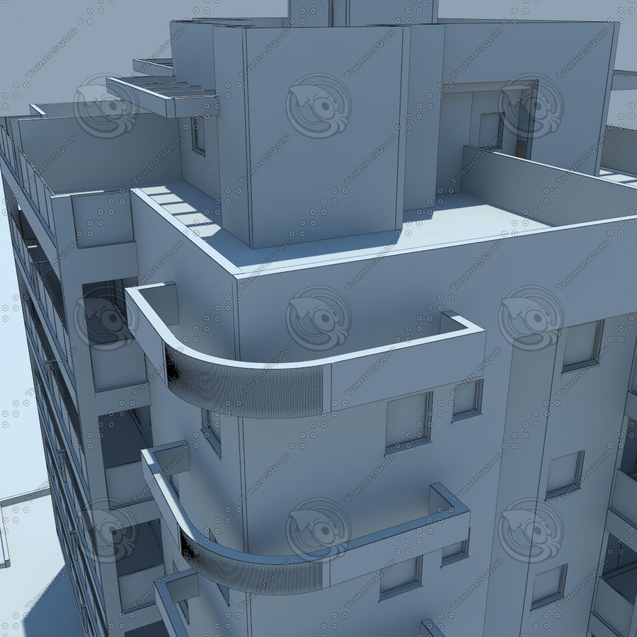 Gebäude royalty-free 3d model - Preview no. 21