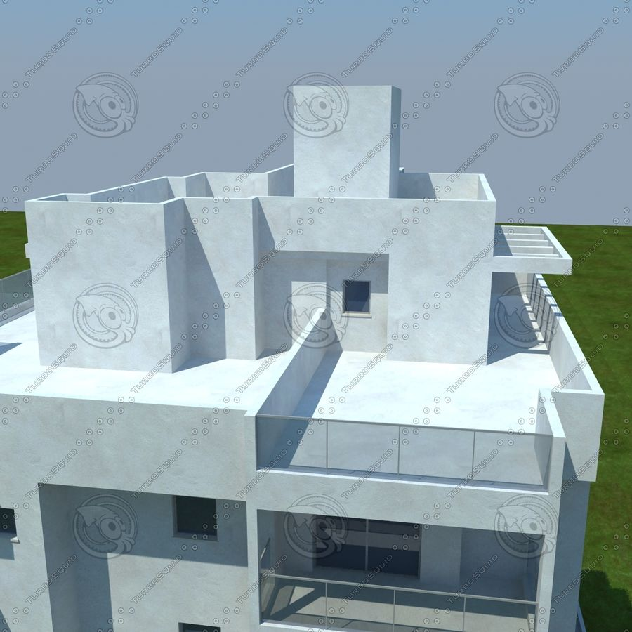 Gebäude royalty-free 3d model - Preview no. 8