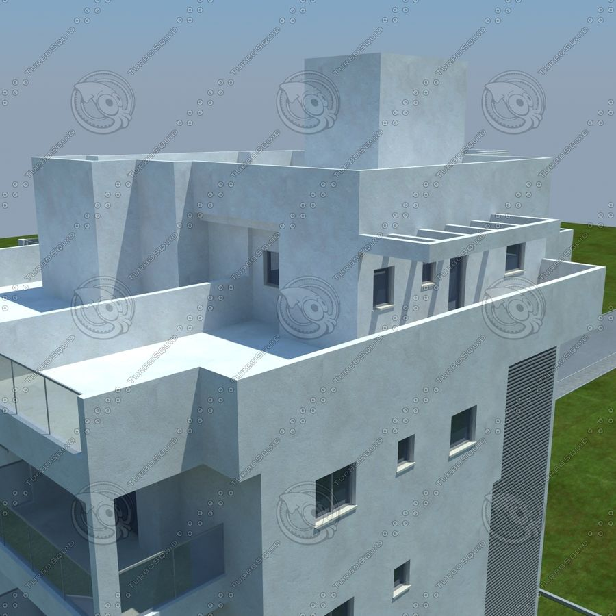 Gebäude royalty-free 3d model - Preview no. 11