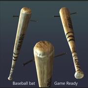 baseball bat with nail 3d model